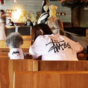 ブランド Supreme シュプリーム 犬と飼い主のペアルックの服 春秋冬用 親子服 大型犬 人気 コピーペット用品 シュプリームブランドペア犬服 Dog Clothes Clothes Stussy