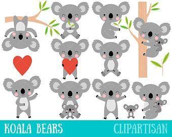 Premium Vector Clipart Kawaii Koala Cute Koalas Clipart Set High Quality Vectors Instant Download Kawaii Clipart Koalas Cute Koala Bear Koala Bear
