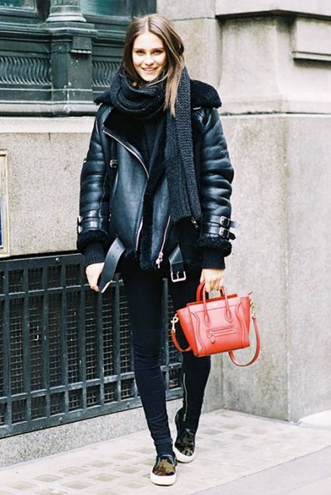 warm and fashionable winter.The Shearling Moto Jacket Every Fashion Insider Owns | Who What Wear