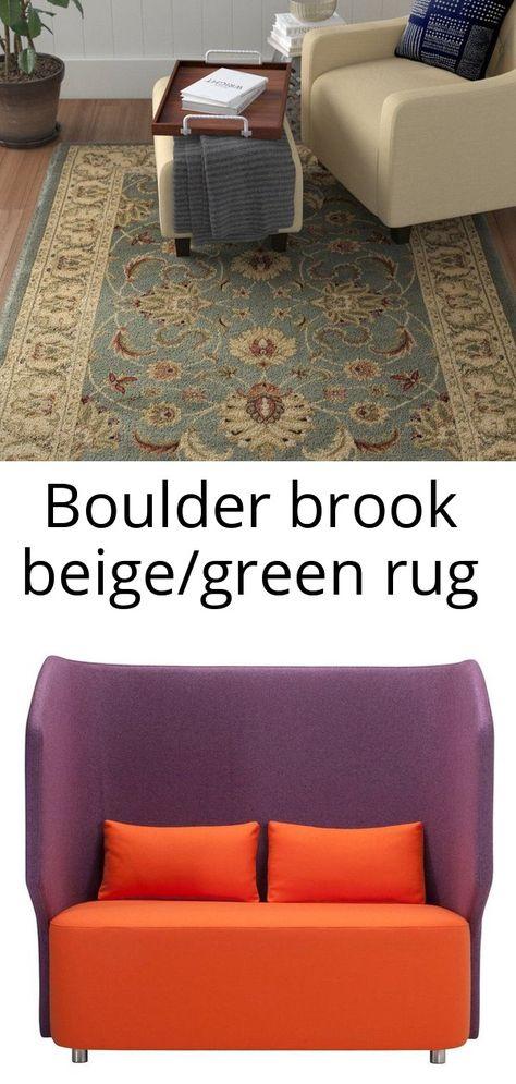 Boulder brook beige/green rug