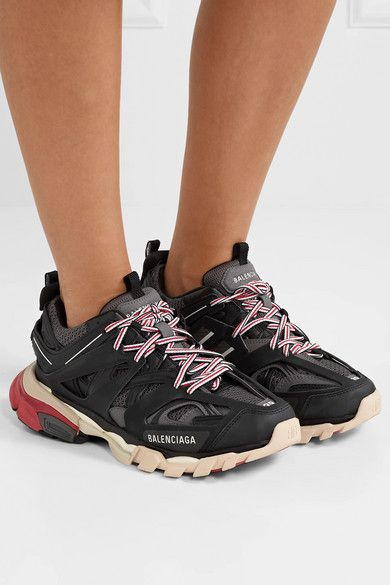 promo code 0aa39 da0e7 Balenciaga - Track Logo-detailed Mesh And Rubber Sneakers ...