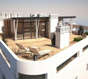 Aménagement D Un Toit Terrasse Avec Surélévation à Ossature
