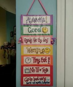 At home behavior chart for kids - we're out of control & going to apply the same strategies as school. Description from pinterest.com. I searched for this on bing.com/images