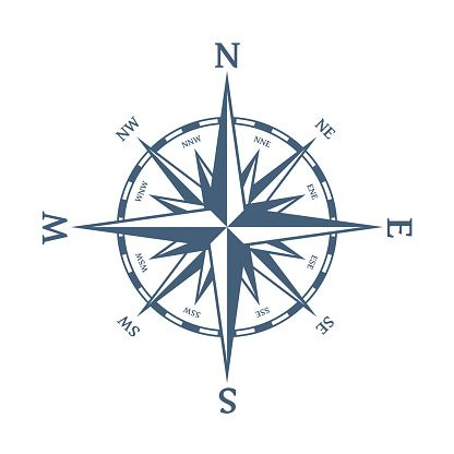 Wind Rose Vector Illustration Nautical Compass Icon Isolated On White Background Design Element For Marine Theme And H In 2020 Wind Rose Compass Icon Compass Drawing