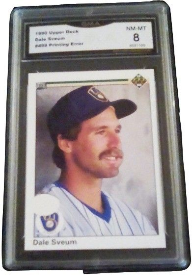Rare One Of A Kind 1990 Upper Deck Printing Error Dale Sveum