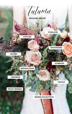 Autumn Bouquet Recipe Bridal Inspiration