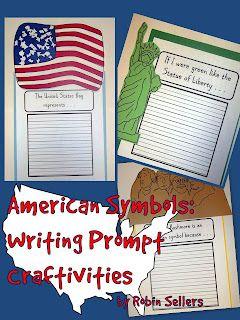 American Symbols Writing Prompts Craftivities