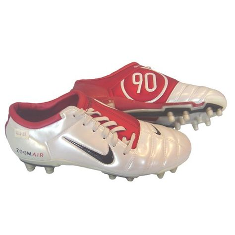 8b37599d4  NIKE AIR ZOOM TOTAL 90 III FG WHITE RED -- See more and shop online now!!!   SoccerItems  soccer  footwear