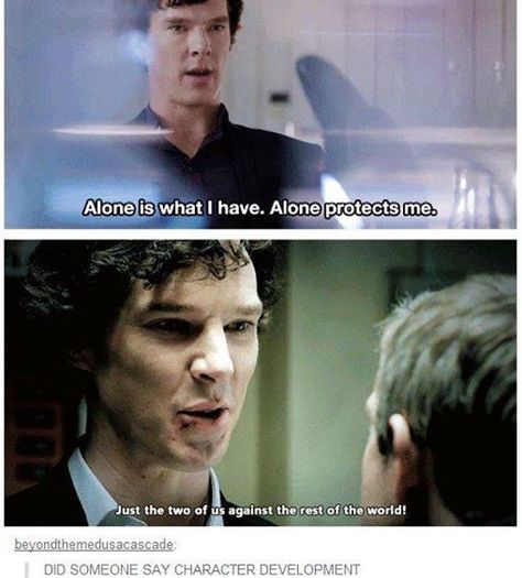 I think Sherlock missed John during his time as a dead man. Sherlock Bbc, Sherlock Fandom, Watson Sherlock, Sherlock Season 4, Sherlock Series, Benedict Sherlock, Jim Moriarty, Sherlock Quotes, Johnlock