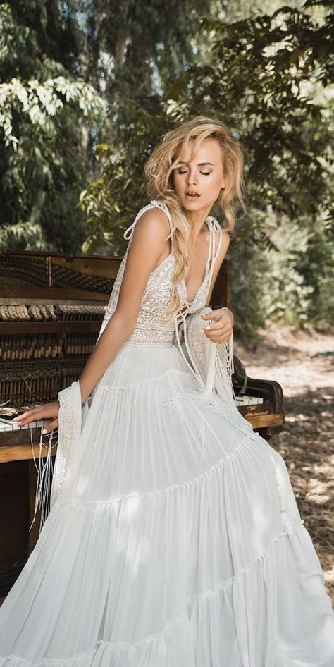 bcc2c7bcd5 Inbal Raviv White Gypsy Bridal Collection is based on Bohemian styles and  classic patterns which will make you feel special on your wedding day.