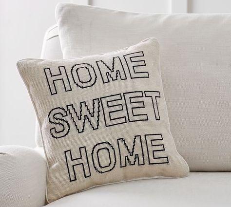 Pottery Barn Home Pillow.Home Sweet Home Pillow Moradi Hall Main Floor Reno