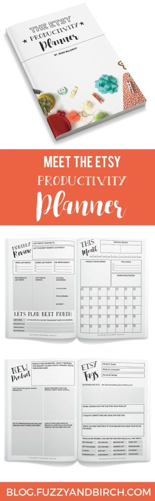 """What if your day planner was crazy smart? Smart enough to help you grow your business, make more money, and never wonder """"what do I do next?""""... If you're ready to map out your success and take your handmade business seriously, then the Etsy Productivity Planner is for you! Click to learn more!"""