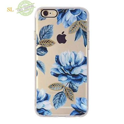 20b33565865 TPU Soft Flower Printed Case For iphone 7 Plus 6s Plus Fundas Gel Silicone  Back Cover Celular Phone Case For iphone 6 6s 7 Capa