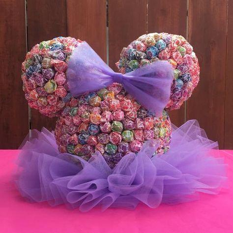 Minnie Mouse Dum Dum Centerpiece | Etsy