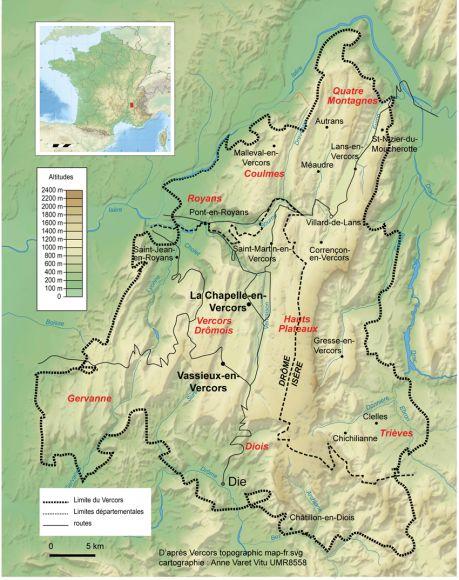 Figure 1 Carte De Localisation Du Massif Du Vercors Vercors Autrans Parc Naturel Regional