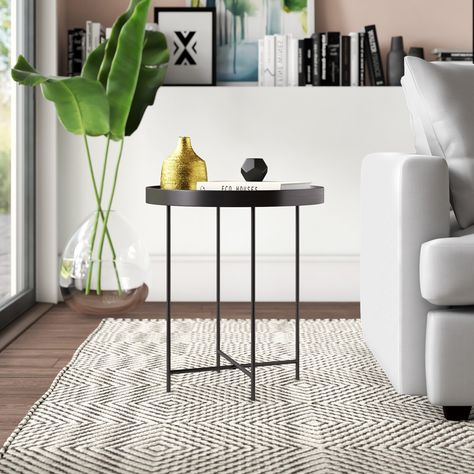 Posner Tray Top End Table In 2020 End Tables Metal End Tables Table