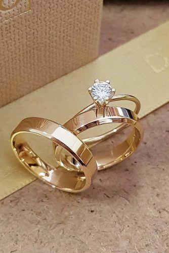 Weddingringssimple Simple Engagement Rings Wedding Ring Sets