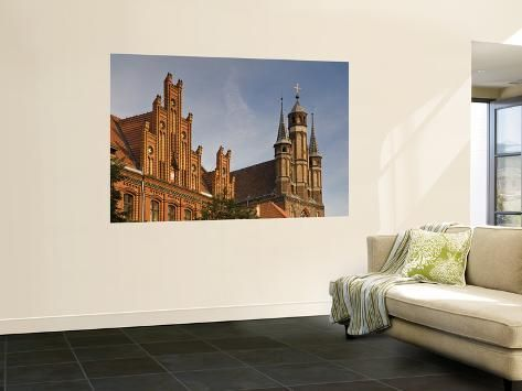 Neogothic Post Office At Old Market Square And Gothic Towers Of Church Of St Mary Wall Mural By Witold Skrypczak Office Wall Decals Wall Murals Mural