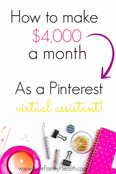 How to make $4,000 a month as a Pinterest Virtual Assistant.