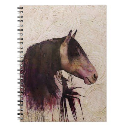 3d Rustic Circle Mark Amp Painting Texture Horse Notebook