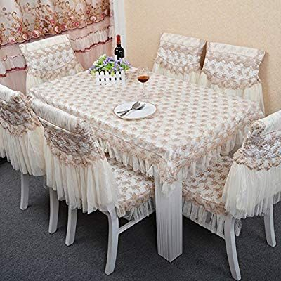Amazon Com Pastoral Lace Cloth Chair Cover Multi Back Sets A Home Kitchen In 2020 Dining Room Chair Slipcovers Slipcovers For Chairs Dinning Tables And Chairs