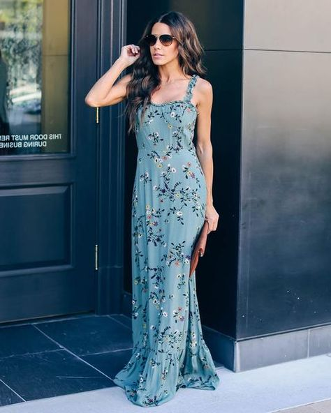 70fe0624205c The Garden State Ruffle Maxi Dress will make you blossom this season! Ruffle  detailing along the straps, neckline and hemline keep you flirty from head  to ...
