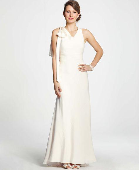 Vanessa Shoulder Bow Wedding Dress Green Wedding Dresses