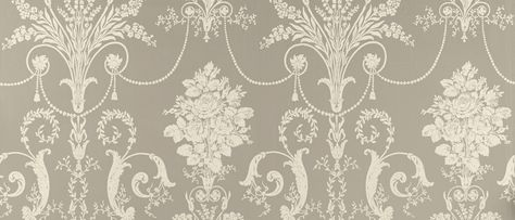 Josette Pewter Grey Patterned Wallpaper At Laura Ashley