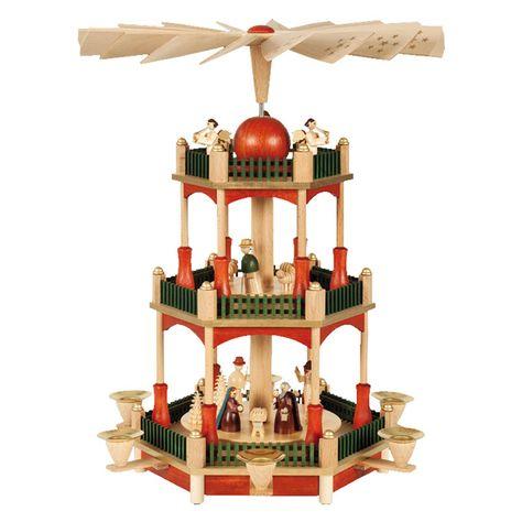 Alexander Taron Richard Glaesser 3 Tier Nativity Pyramid - Stain