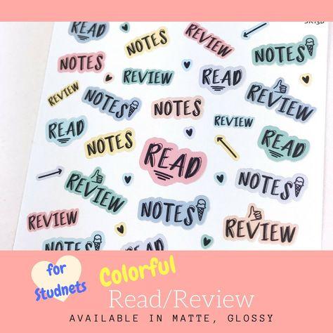 Student Stickers | Erin Condren | Planner Stickers | SK13b - Matte