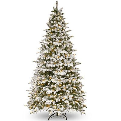 9 Ft Pre Lit Snowy Everest Fir Christmas Tree In 2020 Artificial Christmas Tree Pre Lit Christmas Tree Fir Christmas Tree
