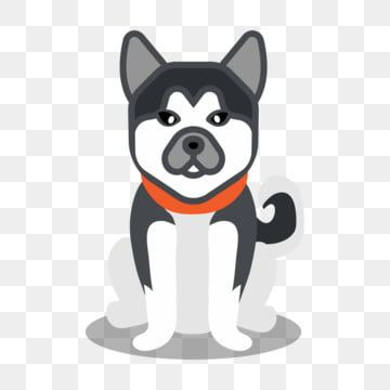 Animal Cartoon Cute Simple Dog Element Husky Clipart Dog Animal Png And Vector With Transparent Background For Free Download Cartoon Animals Cute Cartoon Animals Dog Background