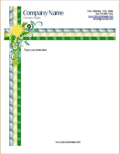 Business Letterhead Template DOWNLOAD at http\/\/wwwbizworksheets - business letterheads