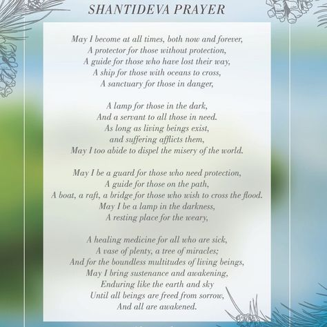 Shantideva Prayer Part Of The Earth Adoration Meditation We Did
