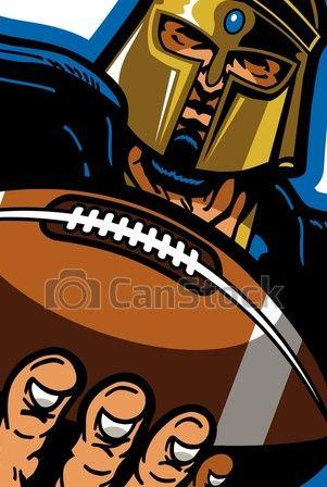 Trojan Football Mascot Trojan Football Team Design With Mascot