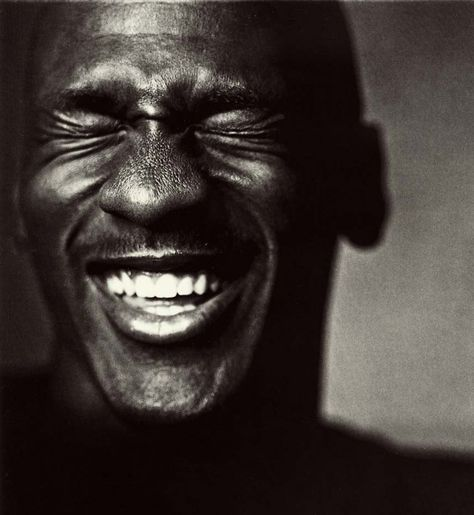 Michael Jordan laughing (by Nadav Kander)