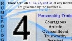 NUMEROLOGY & YOUR PERSONALITY : NUMBER FOUR (4) | J