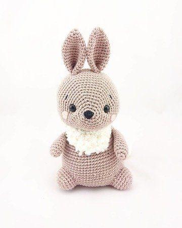 Pretty Bunny amigurumi in pink dress - Amigurumi Today | 450x360