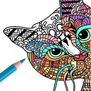Gambar Kucing Yang Belum Diwarnai godean.web.id