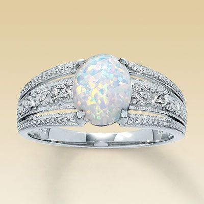 opal wedding ring im kind of liking that its unique not sure if i want to replace the diamond just yet though pinterest diamond unique and ring - Opal Wedding Ring