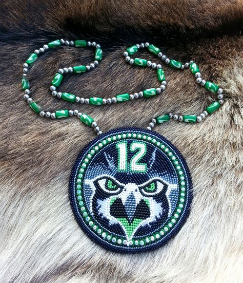 Native American Beaded SeaHawk Medallion by AweyoDesigns on Etsy