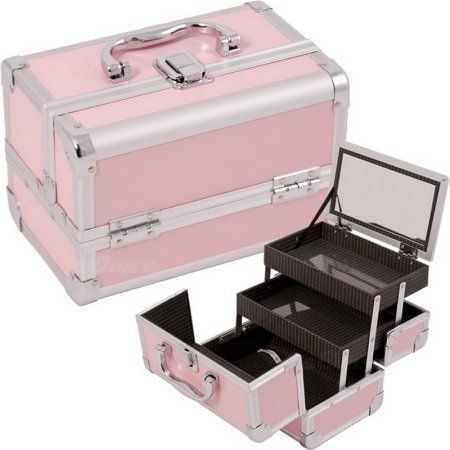 Just Case M1001pppk Pink Makeup Case W Mirror M1001 Walmart Com Makeup Case Organization Makeup Case Makeup Cosmetics