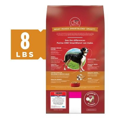 Purina One Adult Smartblend Chicken Rice Dry Dog Food 8lbs