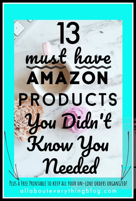 Check out these 13 must have Amazon products that you didn't know you needed to simplify your life. Amazon Finds. Amazon must haves. Amazon things to buy. #amazonfinds #amazonmusthaves #amazonthingstobuy
