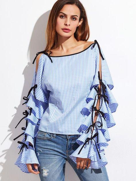 368c45e3a9e4 Модные женские туники и блузки 2018  новинки, тенденции и тренды сезона.  Блузки весна