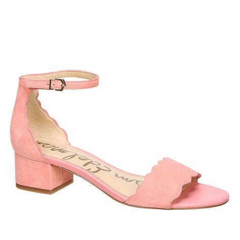 1a5dc6681 Sam Edelman Inara Leather Scalloped Block Heel Sandal -