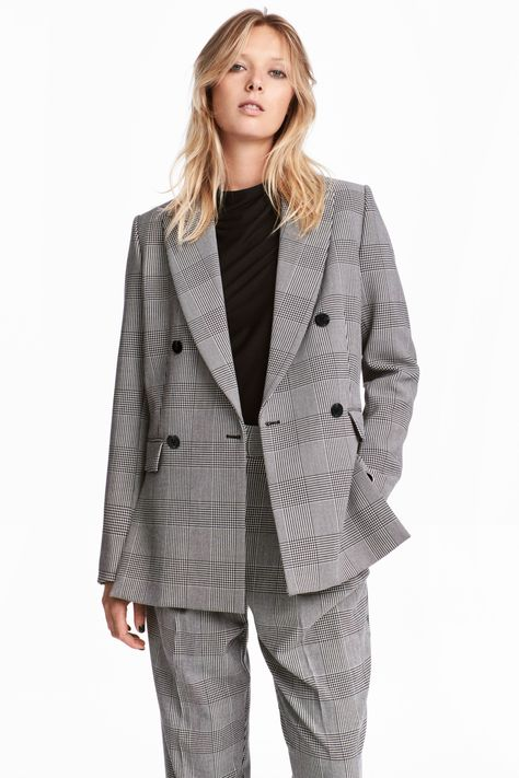 grossiste 730b7 c3290 Blazer à double boutonnage | Double breasted jacket, Jackets ...