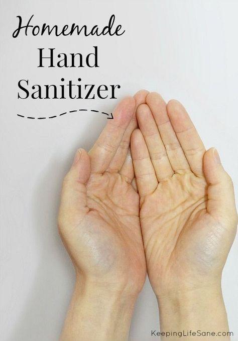 Homemade Hand Sanitizer Hand Sanitizer Homemade Health Diet