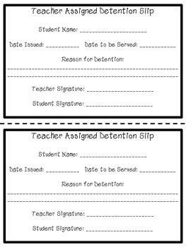 List Of Pinterest Detention Slips Printable Pictures