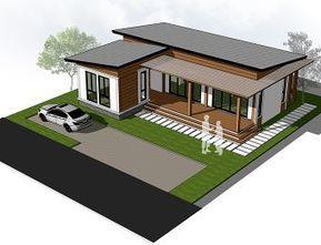 Mo H1 11801 08 แบบบ านช นเด ยว Modern Style 2 ห องนอน 3 ห องน ำ 112 83 ตร ม พร อม Construcao De Casas Projetos De Casas Pequenas Construcao De Casas Baratas